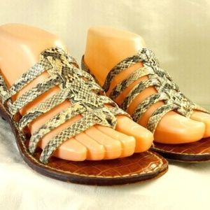 Sam Edelman Gladiator Reptile Thong Sandal - 10